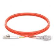 5m (16ft) LC UPC to SC UPC Duplex 2.0mm PVC (OFNR) OM1 Multimode  Fiber Optic Patch Cable