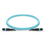 12-144 Fibers OM3 Multimode 12 Strands HD BIF MTP Trunk Cables, Elite, LSZH Bunch 3.0mm