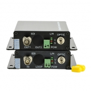 Mini 1 Channel Unidirectional HD-SDI over Optical Fiber Transmitter and Receiver Set
