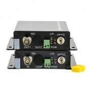 Mini 1 canal HD-SDI monomodo unidireccional conjunto de transmisor y receptor de fibra óptica