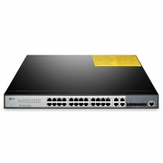S2800-24T4F Fanless 24-Port 100/1000BASE-T Gigabit Managed Switch with 4 Combo SFP Slots