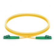 2m (7ft) LC APC to LC APC Duplex 2.0mm PVC (OFNR) 9/125 Single Mode Fiber Patch Cable