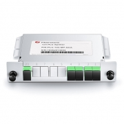 Optischer PLC Splitter 1x4, SC/APC, Singlemode, Mini Plug-in Typ