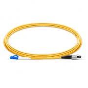 1m (3ft) LC UPC to FC UPC Simplex OS2 Single Mode PVC (OFNR) 2.0mm Fiber Optic Patch Cable