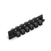 12 Fibres, 6 Ports Blackbox JPM409A-R2 Compatibale 6 MT-RJ Duplex Adapter (Black), Zirconia Ceramic
