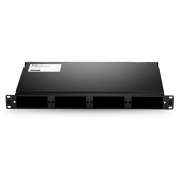 1U Rack Mount Fiber Enclosure Unloaded, Holds up to 4x Fiber Adapter Panels or 4x MTP MPO Cassettes