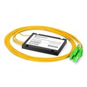 1x4 PLC Fiber Splitter, Splice/Pigtailed ABS Module, 2.0mm, SC/APC, Singlemode