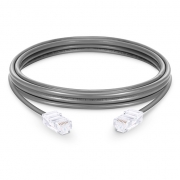 1ft (0.3m) Cat6 Non-booted Unshielded (UTP) PVC Ethernet Network Patch Cable, Gray