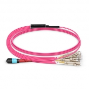 24-144 Fibers OM4 Multimode 24 Strands MTP Breakout Cable 3.0mm
