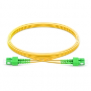 2m (7ft) SC APC to SC APC Duplex 2.0mm PVC (OFNR) 9/125 Single Mode Fiber Patch Cable