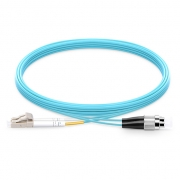 1m (3ft) LC UPC to FC UPC Duplex 2.0mm PVC(OFNR) OM4 Multimode  Fiber Optic Patch Cable