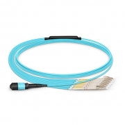 8-144 Fibers OM3 Multimode 12 Strands MTP Breakout Cable 3.0mm