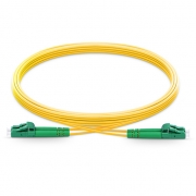 1m (3ft) LC APC to LC APC Duplex 2.0mm PVC(OFNR) OS2 Singlemode Bend Insensitive Fiber Patch Cable