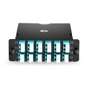 MTP-24 MPO/MTP Cassette, 24 Fibers OM4, LC Duplex, Type A