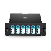 MTP-12 MPO/MTP Cassette, 12 Fibers OM4, LC Duplex, Type A