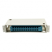 Distribuidor de fibra óptica(ODF) 24 fibras 19'' 2U montaje en rack, sin carga