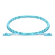 Cable de conexión de fibra, uniboot con push pull tabs 1m (3ft) LC-LC OM4 multimodo