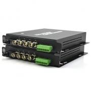 4 Channel Video & 1 Return Data & 4 Bi-Directional Audio Optic Video Multiplexer