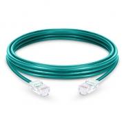 3.3ft (1m) Cat5e sin carcasa sin blindaje (UTP) PVC Cable de conexión de red de Ethernet, verde