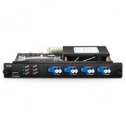 Atenuador óptico variable personalizado, 0 ~ 15dB, LC/UPC, tipo de tarjeta plug-in para sistema de transporte multiservicio FMT