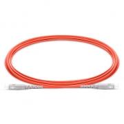 1m (3ft) SC UPC to SC UPC Simplex 2.0mm PVC (OFNR) OM1 Multimode  Fiber Optic Patch Cable