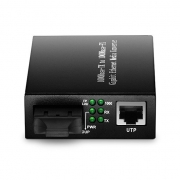 Stand-alone Unmanaged Gigabit Ethernet Media Converter, 1x 1000Base-T RJ45 to 1x 1000Base-X SC/FC/ST, Dual Fiber, 1310nm 20km