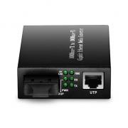 Convertisseur de Média Gigabit Ethernet Non Géré Autonome, 1x 1000Base-T RJ45 vers 1x 1000Base-X SC/FC/ST, Double Fibre, 1310nm 20km
