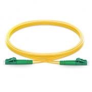 2m (7ft) LC APC to LC APC Duplex 2.0mm PVC(OFNR) OS2 Singlemode Bend Insensitive Fiber Patch Cable