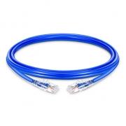 Cable de Red Ethernet Delgado RJ45 UTP Cat6 PVC CM 28AWG 1000Mbps y máximo a 10Gbps Azul 16ft (4.9m)