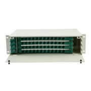 Distribuidor de fibra óptica(ODF) 48 fibras 19'' 3U montaje en rack, sin carga