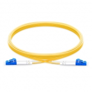 2m (7ft) LC UPC to LC UPC  Duplex 2.0mm PVC (OFNR) 9/125 Single Mode Fiber Patch Cable