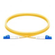 LWL-Patchkabel, 2m (7ft) LC UPC auf LC UPC  Duplex Stecker, 9/125 Singlemode PVC (OFNR) 2,0mm