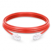 3.3ft (1m) Cat6 Non-booted Unshielded (UTP) PVC Ethernet Network Patch Cable, Red