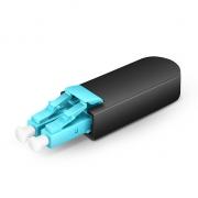 LC/UPC Duplex PVC OM4 50/125 Multimode Fiber Loopback Module