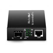 Unmanaged 1x 1000Base-T RJ45 to 1x 1000Base-X SFP, Gigabit Ethernet Media Converter, AC 100V~240V