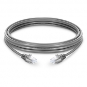 5ft (1.5m) Cat6a Snagless Shielded (SFTP) LSZH Ethernet Network Patch Cable, Gray