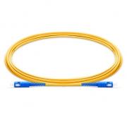 2m (7ft) SC UPC to SC UPC Simplex 2.0mm PVC (OFNR) 9/125 Single Mode Fiber Patch Cable