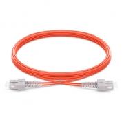 2m (7ft) SC UPC to SC UPC Duplex 2.0mm PVC (OFNR) OM1 Multimode  Fiber Optic Patch Cable