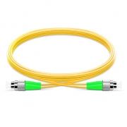 LWL-Patchkabel, 2m (7ft) FC APC auf FC APC Duplex Stecker, 9/125 Singlemode PVC(OFNR) 2,0mm