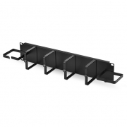 2U Metal Horizontal Cable Manager with End Rings Manager
