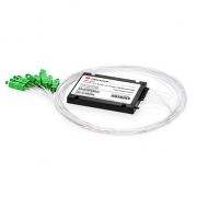 1x8 PLC Fiber Splitter, Splice/Pigtailed ABS Module, 900μm, SC/APC, Singlemode