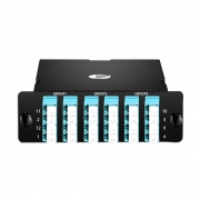 MTP-8 MTP/MPO Breakout Cassette, 24 Fibers OM4, LC Quad, 40G/100G to 10G/25G