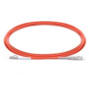 3m (10ft) LC UPC to SC UPC Simplex 2.0mm PVC(OFNR) OM1 Multimode  Fiber Optic Patch Cable