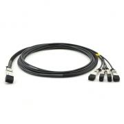2m (7ft) H3C QSFP28-4SFP28-CU-2M Compatible 100G QSFP28 to 4x25G SFP28 Passive Direct Attach Copper Breakout Cable