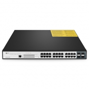 Gigabit 24-Port Switch PoE+ mit 4 SFP, 400W