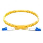 2m (7ft) LC UPC to LC UPC Duplex 2.0mm PVC(OFNR) OS2 Singlemode Bend Insensitive Fiber Patch Cable