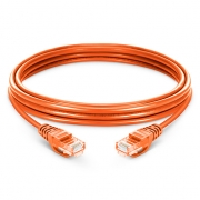 6,6ft (2m) Cat 5e Patchkabel, Snagless ungeschirmtes UTP RJ45 LAN Kabel, PVC, Orange
