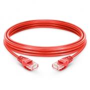 Cable de Red Ethernet LAN RJ45 UTP Cat 5e 2m 10/100/1000 Mbps Rojo