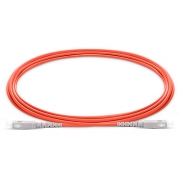 3m (10ft) SC UPC to SC UPC Simplex 2.0mm PVC (OFNR) OM1 Multimode  Fiber Optic Patch Cable