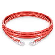 6in (0.15m) Cat6 Snagless Unshielded (UTP) PVC CM Ethernet Network Patch Cable with Transparent Sheath, Red